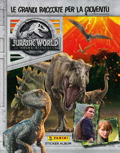 jurassic world 2 stickers collection in edicola