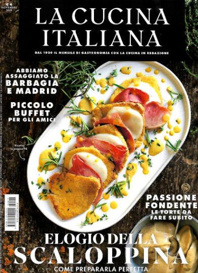 la cucina italiana novembre 2018 in edicola