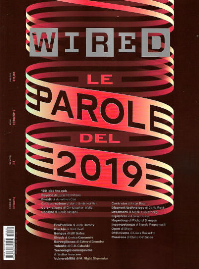 wired dicembre 2018 in edicola