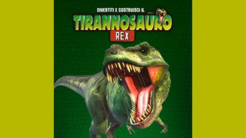 divertiti e costruisci il tirannosauro rex in edicola