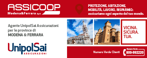Assicoop Modena&Ferrara è Agente Generale UnipolSai Assicurazioni per Modena, Ferrara e Provincia