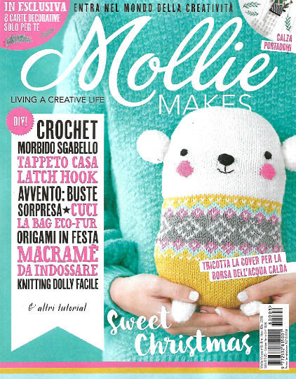 mollie makes novembre 2018 in edicola