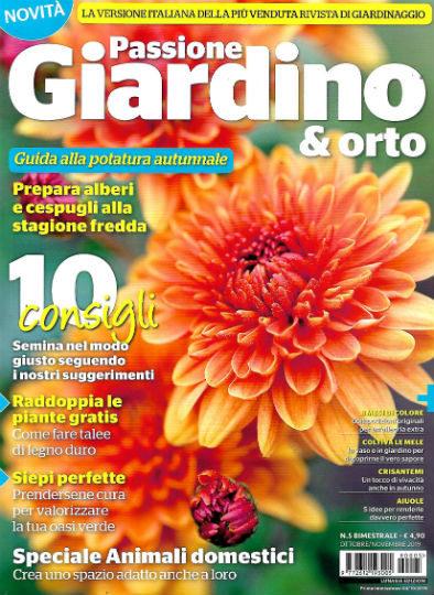 passione giardino & orto ottobre 2019 in edicola