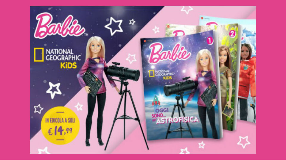 barbie national geographic collana in edicola
