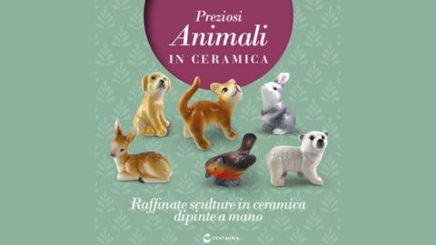 preziosi animali in ceramica collana in edicola