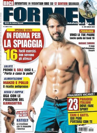 for men magazine luglio 2020 in edicola
