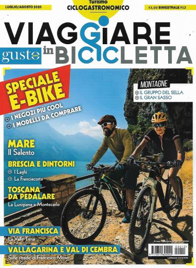 viaggiare in bicicletta luglio 2020 in edicola