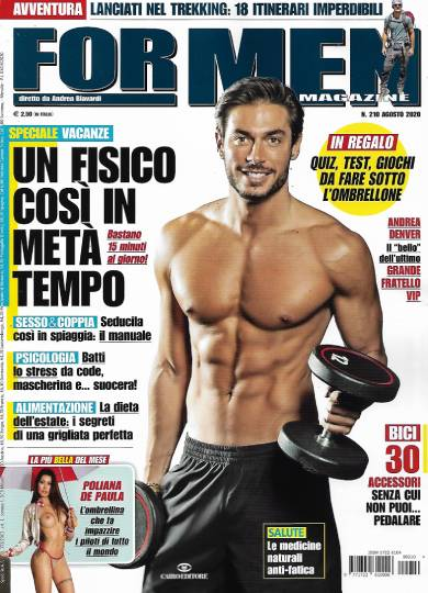 for men agosto 2020 in edicola