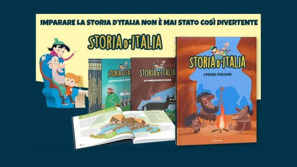 storia d'italia collana per bambini in edicola