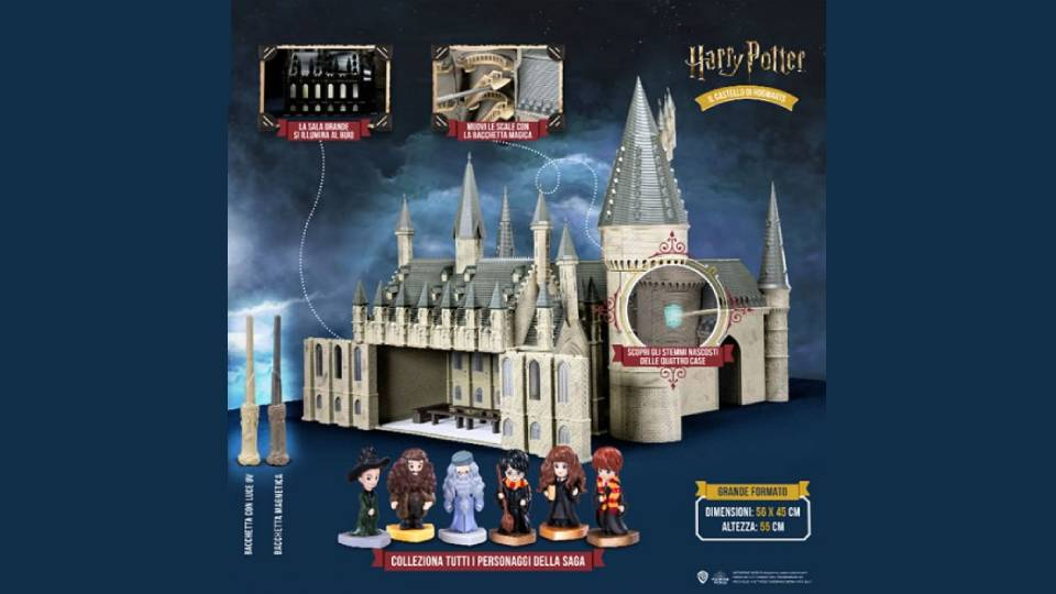 harry potter costruisci il castello di hogwarts in edciola